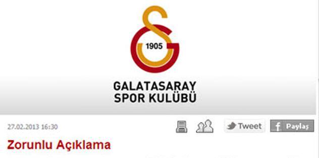 Galatasaray'dan çifte tepki