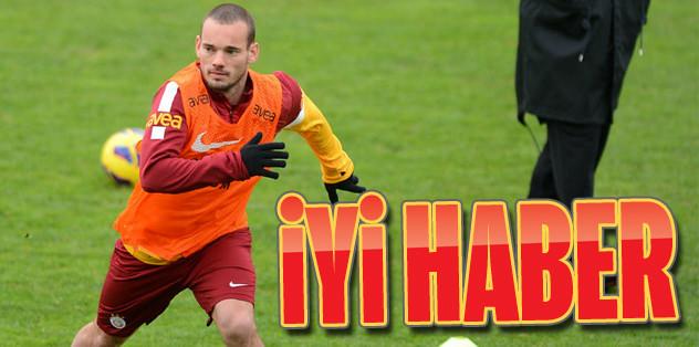 Sneijder'den iyi haber