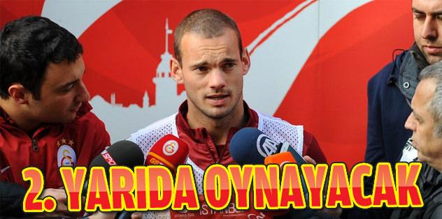 Sneijder ikinci yarıda oynayabilir