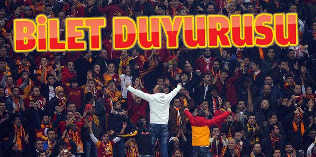 Galatasaray'dan bilet duyurusu