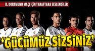R. Madrid'li oyuncular taraftara seslendi