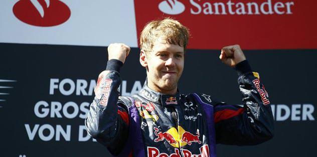 Almanya'da Zafer Vettel'in