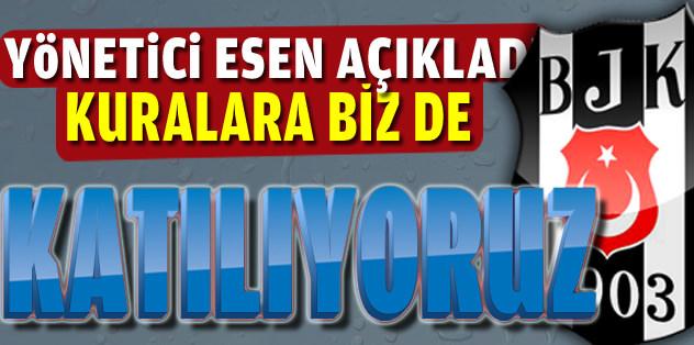 Beşiktaş yöneticisi Esen: Avrupa Ligi kura çekimine katılıyoruz...