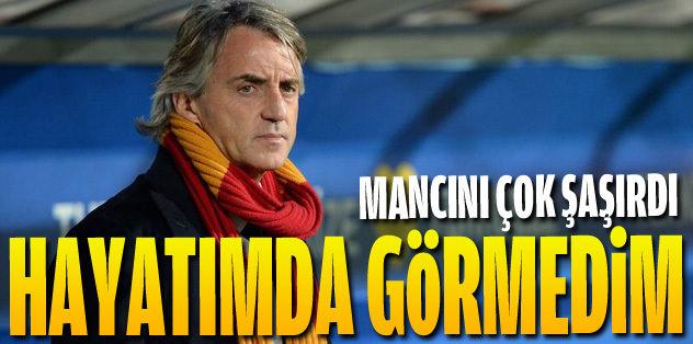 Mancini: Hayatımda görmedim