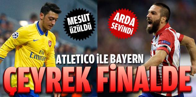 Atletico ile Bayern çeyrek finalde
