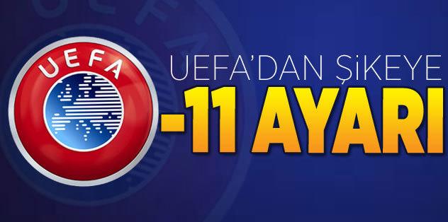 UEFA'dan şikeye -11 puan ayarı