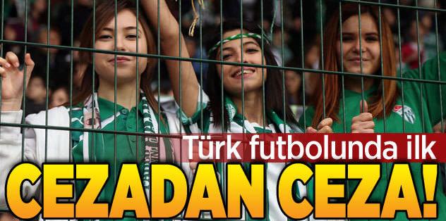 Bursaspor, cezalı olduğu maçta ceza aldı!