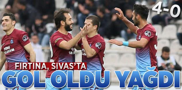 Fırtına, Sivas'ta gol oldu yağdı