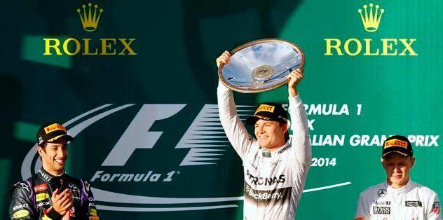 F1'de sezonun ilk yarışı Rosberg'in