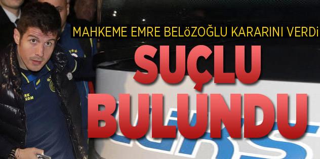 Emre Belözoğlu'na 8 bin 700 lira para cezası