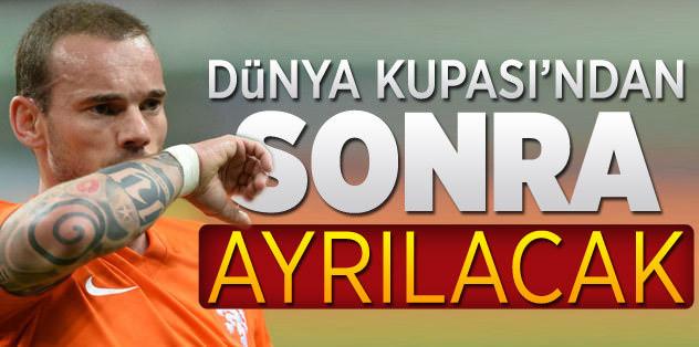 Sneijder, Dünya Kupası'ndan sonra ayrılacak