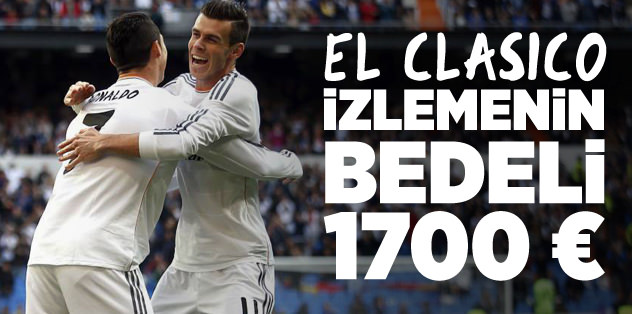 İzlemesi en lüks derbi: El Clasico