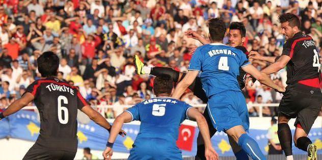 Kosova'nın ilk golü Millilerimize