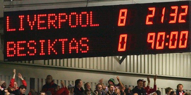 Liverpool taraftarı kızdırdı!