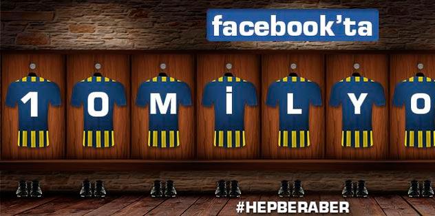 Facebook'ta 10 milyon!