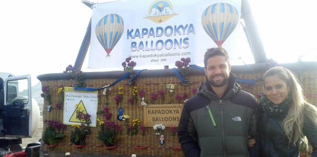 Kapadokya'da stres attı