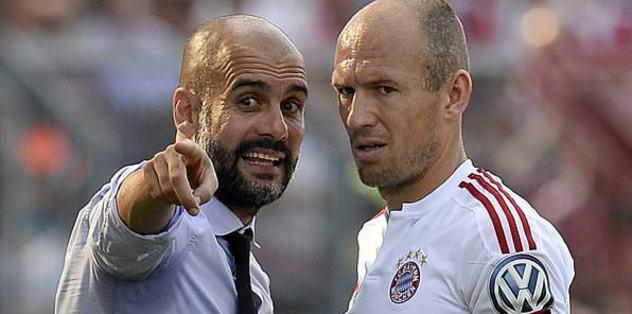 Robben tamam, sıra Pep'te