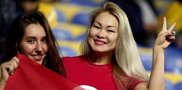 Kazaklar bayram yaptı