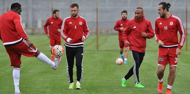 Sivasspor'da Kasımpaşa hazırlıkları sürdü