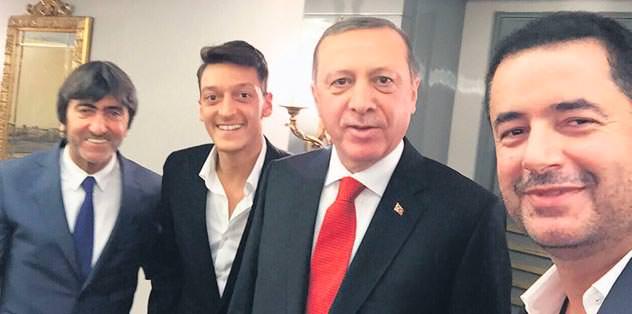 Arsenal'li Mesut, Erdoğan'ın huzurunda