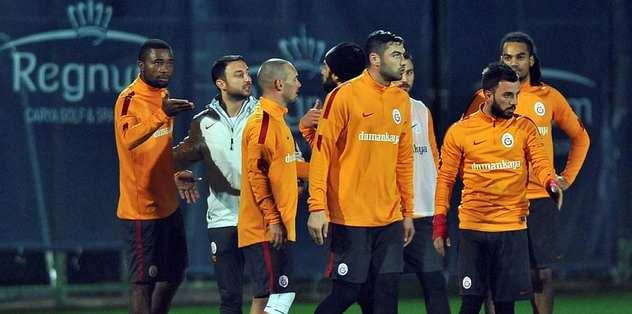 Galatasaray idmanında saha karıştı