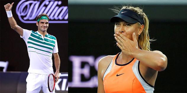 Sharapova ve Federer 2. turda