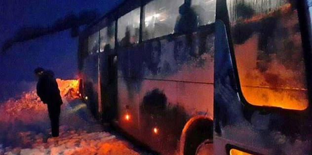 Trabzonlu futbolcular mahsur kaldı