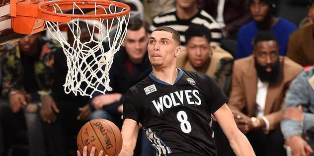 LaVine wins NBA slam dunk contest
