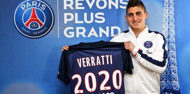 PSG, Veratti'nin sözleşmesini yeniledi