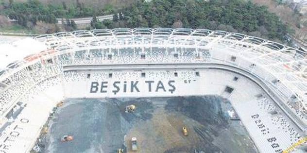 Vodafone Arena'da 'Beşiktaş' göründü