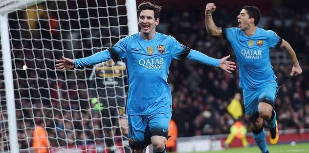 Emirates'te Messi'nin gecesi