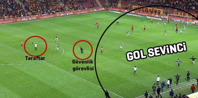 Taraftar sahaya girdi, Beşiktaş'ın golü geldi!