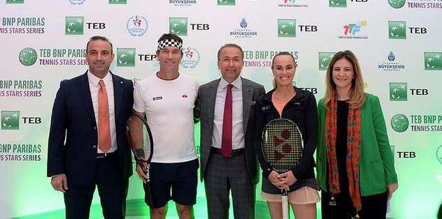 Tenisin efsane isimleri İstanbul'da