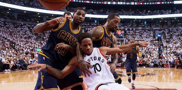 Raptors hold off Cavs, even East finals at 2-2
