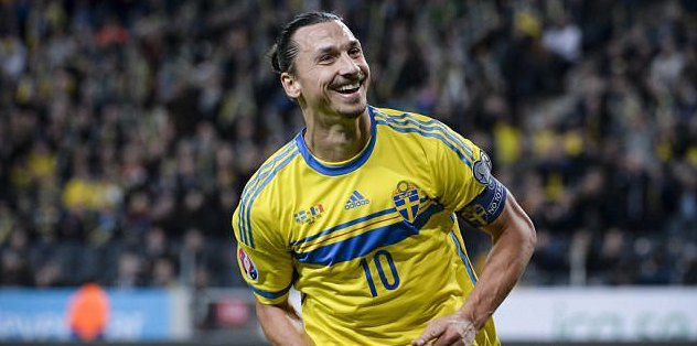 Ibrahimovic leads Sweden by example