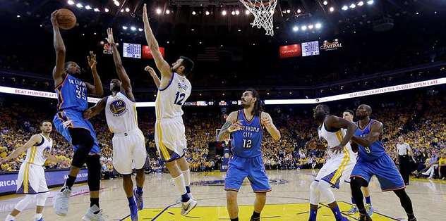 Warriors shoot past Thunder, extend West finals