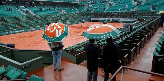 Fransa Açık'a yağmur arası