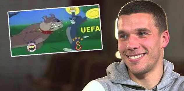 Poldi'den Fenerlileri çıldırtan video