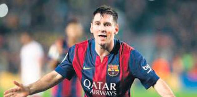 Barcelona'da Messi sevinci