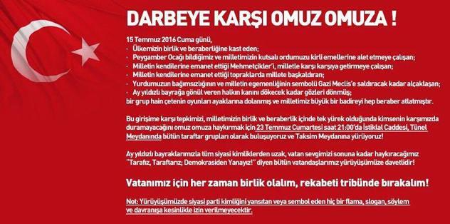 Dört Büyükler Taksim'e