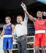 Milli boksör de Rio'ya veda etti