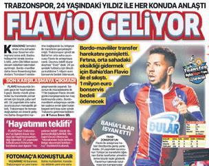 son firtina flavio 1598045376291 - Flavio resmen Trabzonspor'da! İmzaya geliyor
