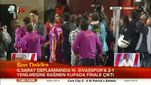 Sivas'ta maç sonu ortalık karıştı