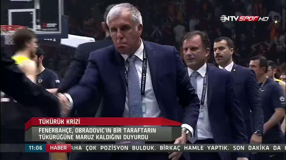 İşte Obradovic'e tükürülme anı