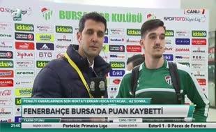 Bursasporlu futbolcudan penaltı itirafı