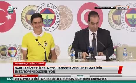 Eljif Elmas resmi sözleşme imzaladı