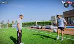 Cristiano Ronaldo ünlü freestyler Soufiane Touzani ile kapıştı