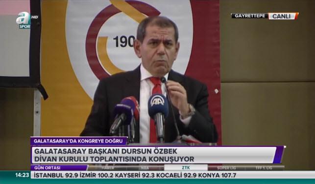 Dursun Özbek'ten Ünal Aysal'a: Galatasaray'ı bırakıp kaçtın
