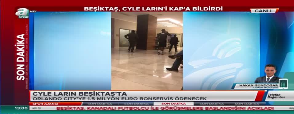 Beşiktaş Cyle Larin'i KAP'a bildirdi