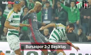 Bursaspor - Beşiktaş maçı özeti